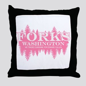 Forks - Washington (in girly Throw Pillow