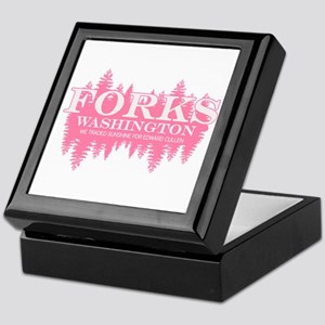 Forks - Washington (in girly Keepsake Box