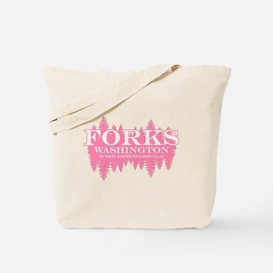 Forks - Washington (in girly Tote Bag