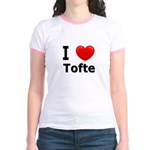 I Love Tofte Jr. Ringer T-Shirt