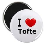 I Love Tofte Magnet