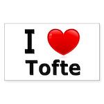 I Love Tofte Rectangle Sticker 50 pk)