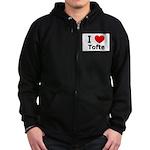 I Love Tofte Zip Hoodie (dark)
