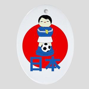Japan Kokeshi Football Oval Ornament