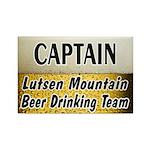 Lutsen Beer Drinking Team Rectangle Magnet (100 pa