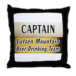 Lutsen Beer Drinking Team Throw Pillow