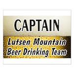 Lutsen Beer Drinking Team Small Poster