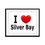 I Love Silver Bay Framed Panel Print