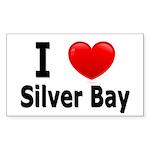 I Love Silver Bay Rectangle Sticker 50 pk)