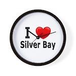 I Love Silver Bay Wall Clock