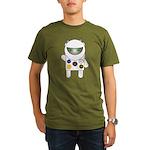 Cat Astronaut Organic Men's T-Shirt (dark)
