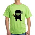 Ninja Kitty Green T-Shirt