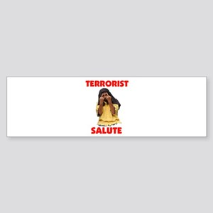 SALUTE THEM BACK Bumper Sticker