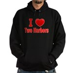 I Love Two Harbors Hoodie (dark)