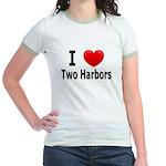I Love Two Harbors Jr. Ringer T-Shirt
