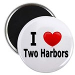I Love Two Harbors Magnet