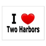 I Love Two Harbors Small Poster