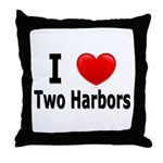 I Love Two Harbors Throw Pillow