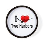 I Love Two Harbors Wall Clock