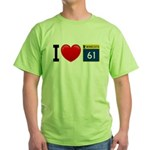 I Love Highway 61 Green T-Shirt