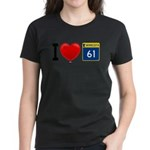 I Love Highway 61 Women's Dark T-Shirt