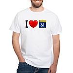 I Love Highway 61 White T-Shirt