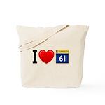 I Love Highway 61 Tote Bag