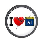 I Love Highway 61 Wall Clock