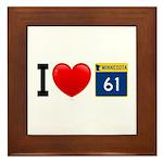 I Love Highway 61 Framed Tile