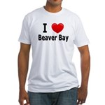 I Love Beaver Bay Fitted T-Shirt