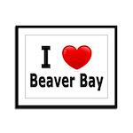 I Love Beaver Bay Framed Panel Print