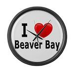 I Love Beaver Bay Large Wall Clock