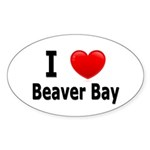 I Love Beaver Bay Oval Sticker (10 pk)