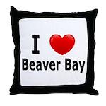 I Love Beaver Bay Throw Pillow