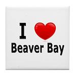 I Love Beaver Bay Tile Coaster