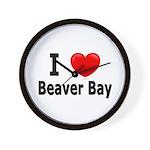 I Love Beaver Bay Wall Clock