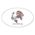 Terra Lingua USA Oval Sticker (10 pk)