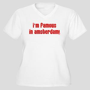 Famous in Amsterdam! Women's Plus Size V-Neck T-Sh
