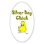 Silver Bay Chick Oval Sticker (10 pk)