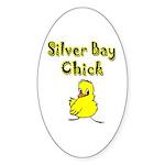 Silver Bay Chick Oval Sticker (50 pk)