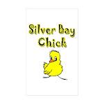 Silver Bay Chick Rectangle Sticker 10 pk)