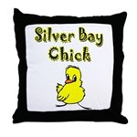 Silver Bay Chick Throw Pillow
