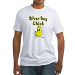 Silver Bay Chick Fitted T-Shirt