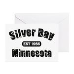 Silver Bay Established 1956 Greeting Cards (Pk of
