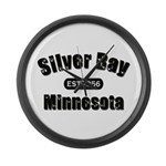 Silver Bay Established 1956 Large Wall Clock