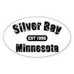 Silver Bay Established 1956 Oval Sticker (50 pk)