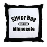 Silver Bay Established 1956 Throw Pillow