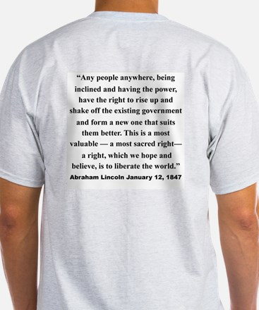 TEXAS SECISSION WITH LINCOLN QUOTE ON BACK T-Shirt