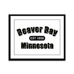 Beaver Bay Established 1856 Framed Panel Print