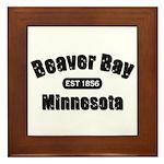 Beaver Bay Established 1856 Framed Tile